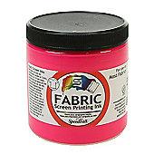 Speedball Fabric Screen Printing Ink - Fluorescent Pink 236ml