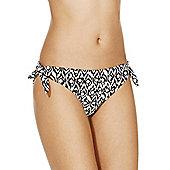 F&F Monochrome Wood Print Bikini Briefs - Multi