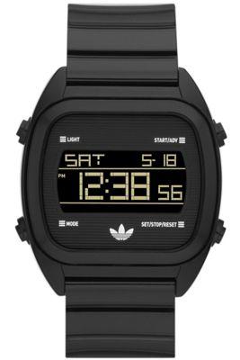 Adidas Gents Black Digital Resin Strap Watch ADH2726