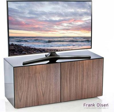 Frank Olsen INTEL1100BLK-WALN Black and Walnut TV Stand for up to 55 inch TVs