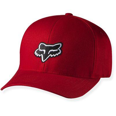 Fox Mens Legacy Flexifit Hat Red L-XL