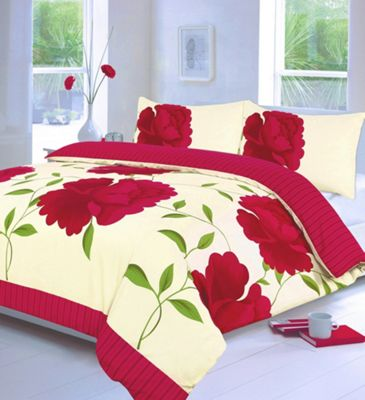 Rosaleen duvet cover and pillowcase set - fuchsia - single