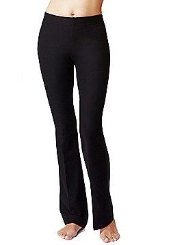 Women's Slimming Shaping Yoga Bootcut Bottoms Black - Long length - Black