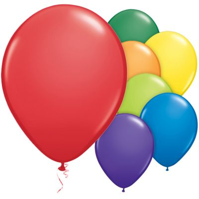 Carnival Assortment 11 inch Latex Balloons - 100 Pack