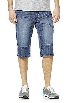 F&F 3/4 Length Denim Shorts - Mid wash