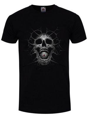 Cyborg Skull Men's T-shirt, Black.