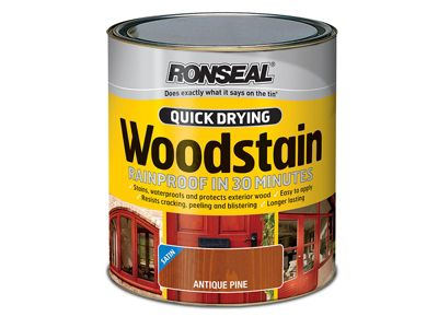 Ronseal Woodstain Quick Dry Satin Smoked Walnut 750ml