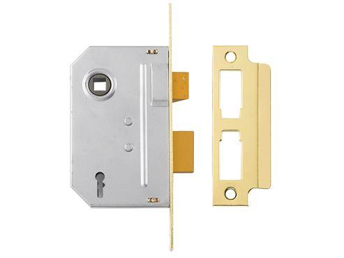 Yale Locks PM246 Internal 2 Lever Mortice Sashlock Polished Brass 67mm 2.5in