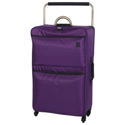 Buy IT Luggage World's Lightest 4-Wheel Large Purple Magic ...