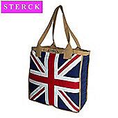 Sterck Union Jack Appliqued Fabric Big Shoulder Bag