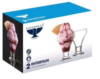Ravenhead Entertain Sundae Dishes - Set of 2 -Transparent - 22 cl