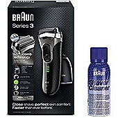 Braun BRNBUN004 Series 3 Electric Shaver & Shave Cleaner