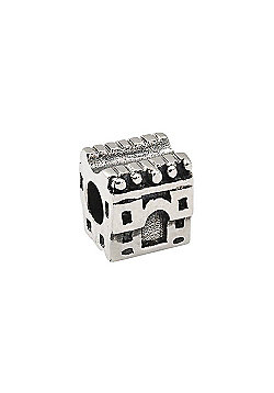 Amore & Baci Teen Silver Castle Spacer Bead