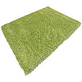 Green Shaggy Rug - 133 x 190 cm - Large, Living Room / Bedroom Rug
