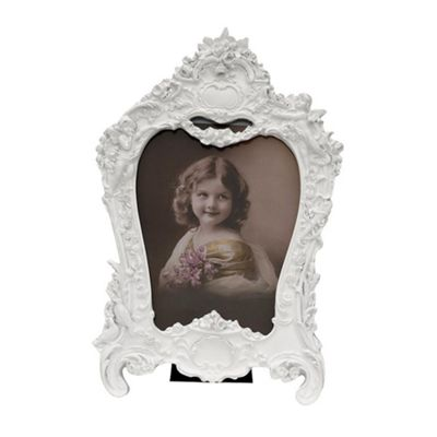 White Clay paint Photo Frame Width: 19cm