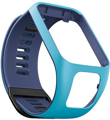 Tomtom Smart Watch 3 Strap-9UR0.000.07│For Golfer 2, Runner 2, 3 Spark 3 Adventurer │Light/Dark Blue-Small