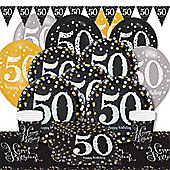 Sparkling Celebration 50th Birthday Party Pack - Deluxe Party for 8