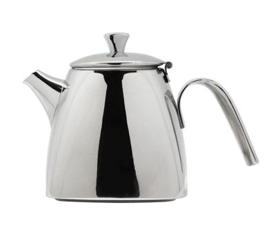 Grunwerg Café Ole Quadra Stainless Steel Teapot 0.6L, QT-020