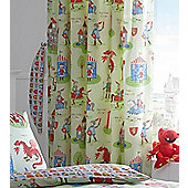 Knights Curtains 72s - Castles, Dragons, Shields, Medieval