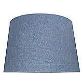 Stonewash Blue 19 Inch Linen Empire Shade (Dual Fitting)