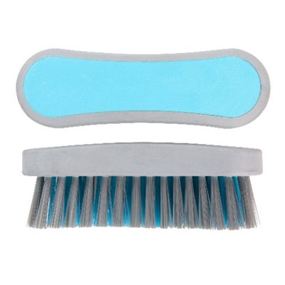 Elliott Curved Narrow Scrubbing Brush, Synthetic Fibres, (Teal)