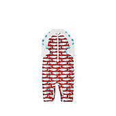Dudeskin Whale Print UPF 50+ Surf Suit - Red