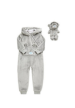 Me to You Fleece Onesie with Dinky Bear Outfit - Grey