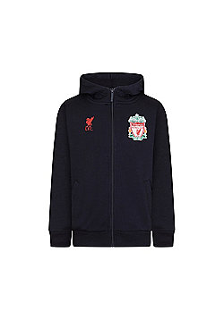 Liverpool FC Boys Zip Hoody - Navy blue