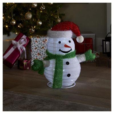 40cm Pop up Lit Snowman