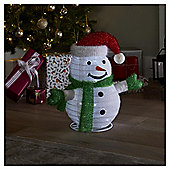 40cm Pop up Lit Snowman