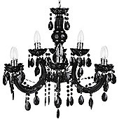Litecraft Antara 9 Bulb Dual Mount Chandelier, Black