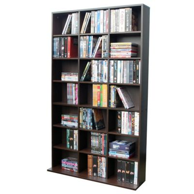Techstyle 21 Cubby 588 CD / 378 DVD Media Storage Unit - Dark Oak