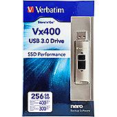 Verbatim VX400 256GB USB 3.0 Silver flash drive 256 GB
