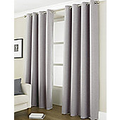 """Country Club Thermal Blackout Eyelet Curtains 46"""" X 54"""", Linea Grey"""