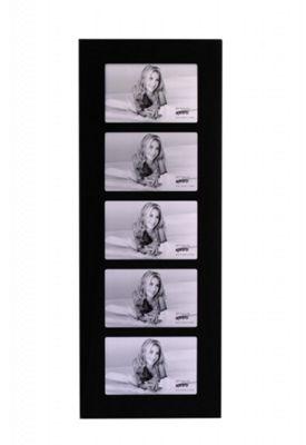 Kenro Black Glass Photo Frame to hold 5 6x4