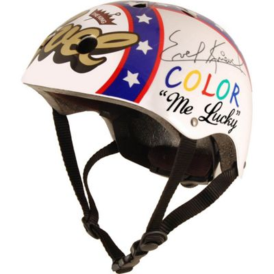 Official and Signed Evel Knievel Helmet by Kiddimoto - Medium