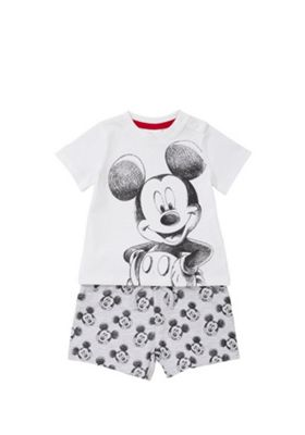 Disney Mickey Mouse Top and Shorts Set Multi 0-3 months