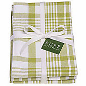 Now Designs Colour Centre Jumbo Tea Towels, Cactus Green, Pack of 3