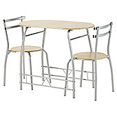 Tesco Breakfast Table and 2 Chair Set, Oak-effect