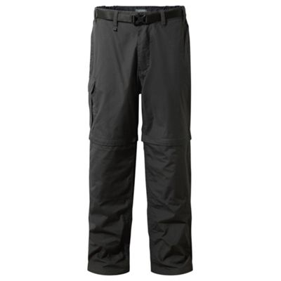 Craghoppers Mens Kiwi Zip Off Trousers Black Pepper 34 Long Leg