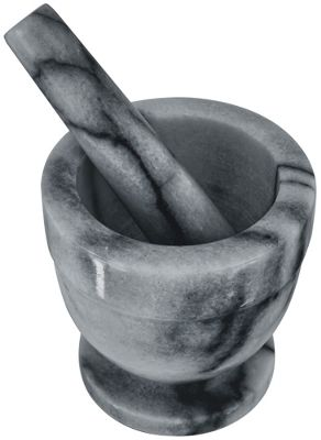 Judge Marble Mortar and Pestle 10cm in Grey