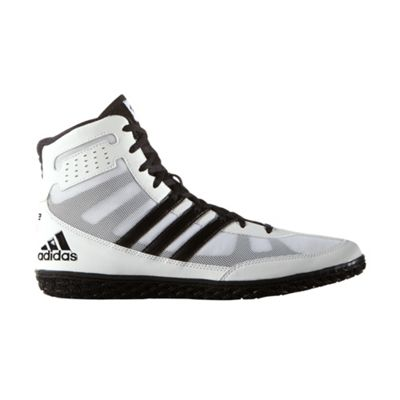 adidas Mat Wizard 3 Mens Adult Wrestling Trainer Shoe Boot White/Black - UK 6.5