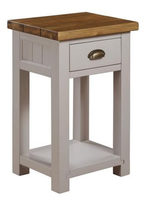 Gloucester Painted Grey Oak 1 Drawer Console Table