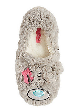 Me To You Tatty Teddy Faux Fur Slippers - Grey
