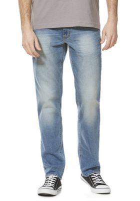 F&F Mid Wash Straight Leg Jeans Mid Wash 36 Waist 34 Leg