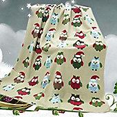 Christmas Owls Fleece Blanket