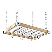 Hahn Square Ceiling Rack in Wooden