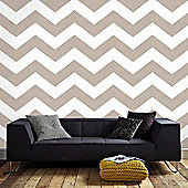Superfresco Easy Paste The Wall Chef Chevron Taupe Wallpaper