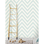 Chevron Zig Zag Wallpaper Soft Teal Holden 12570