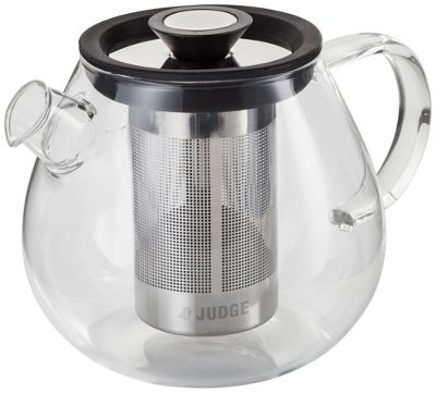 Judge Brew Control Glass Teapot with Infuser 5 Cup 1 Litre